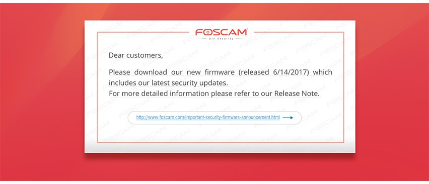Important Security Firmware Announcement